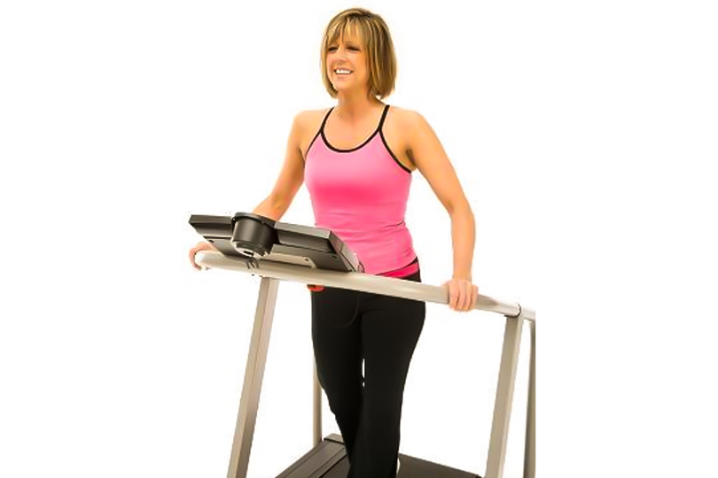 Mother on a treadmill