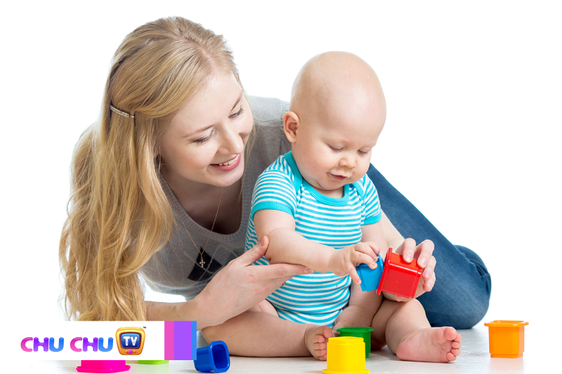 Help your baby's transition by carrying the toy