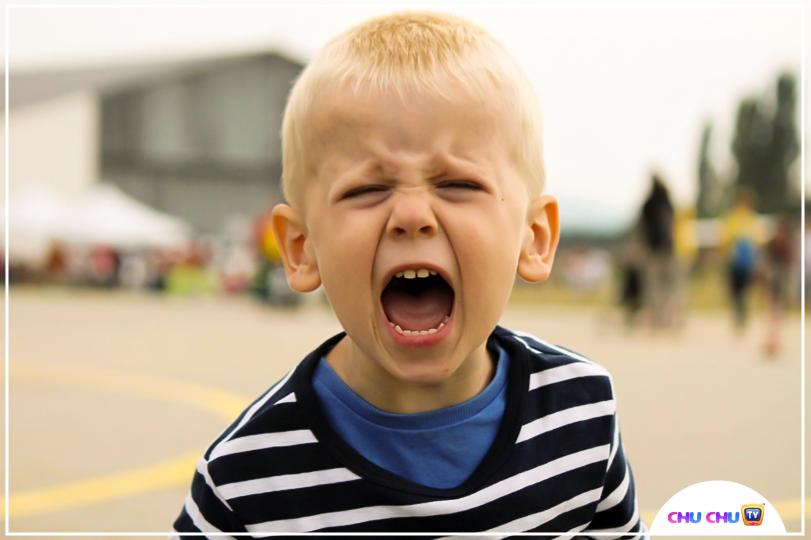 toddler expressing anger