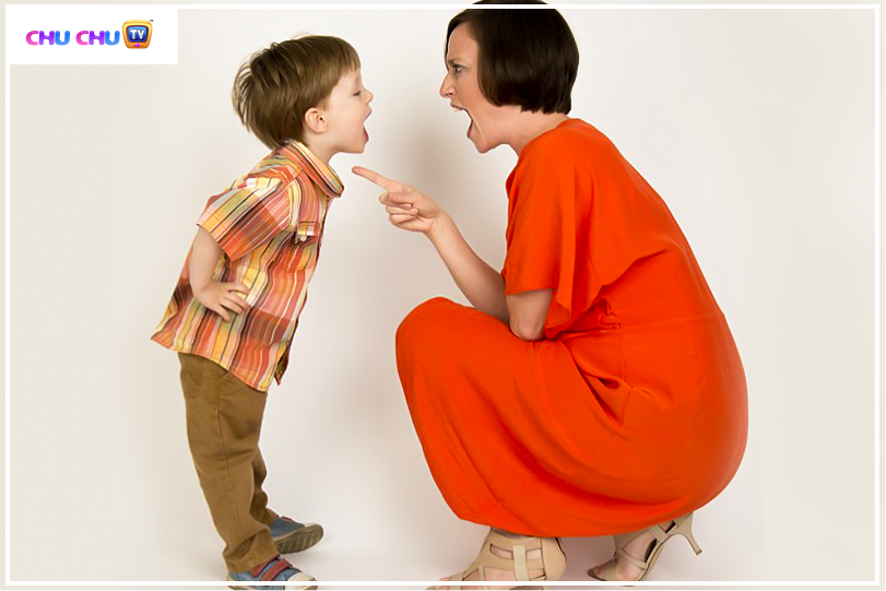 mom and son angry
