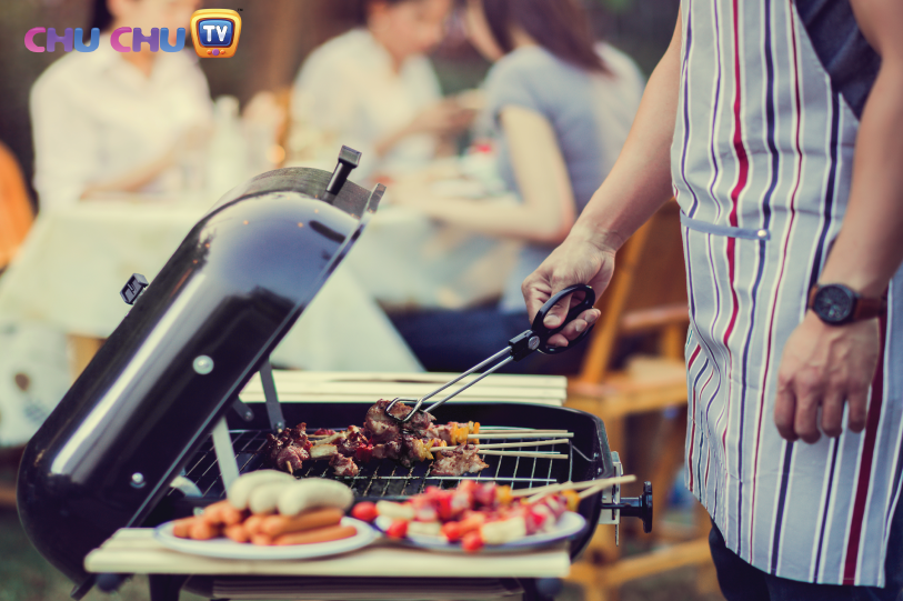 Set up a barbecue: